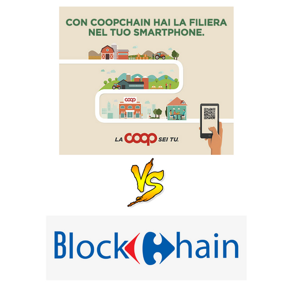 Carrefour blockchain vs Coopchain