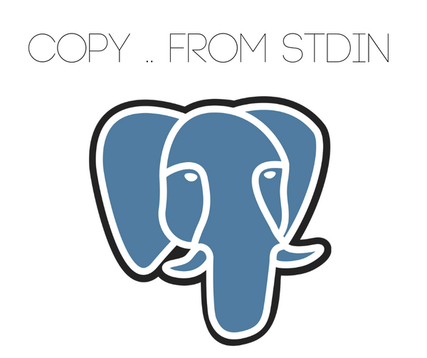 "Execute ""COPY .. FROM stdin"" in postgres database"